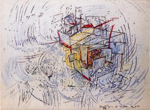 SebastianMatta - Encaged Wave Catching Its Breath, 1977