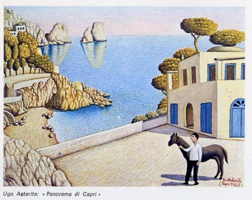Ugo Astarita Panorama di Capri