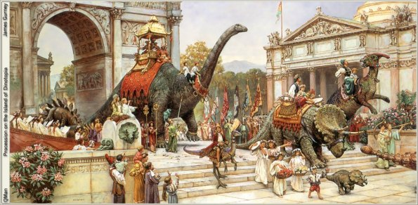 14-James Gurney Procession on the Island of Dinotopia