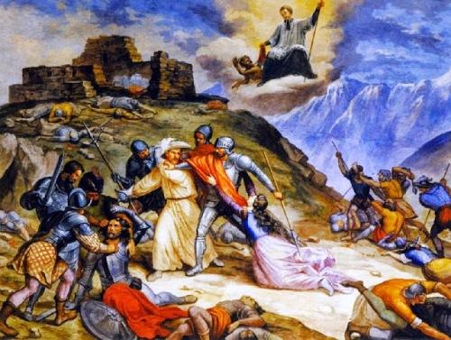 Cattura di Fra Dolcino sul Monte Rubello (Zebello)