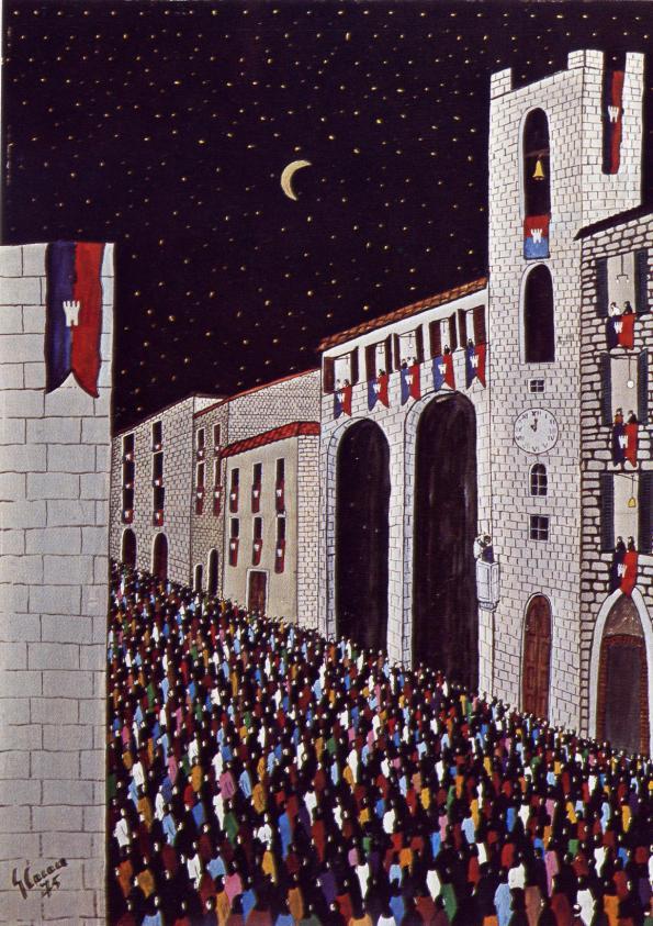 Giorgio Cacace-Narni, la Corsa dell'anello fra porta