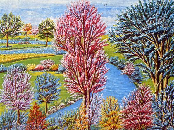 Maria Delfitto-Piccolo fiume tra gli alberi
