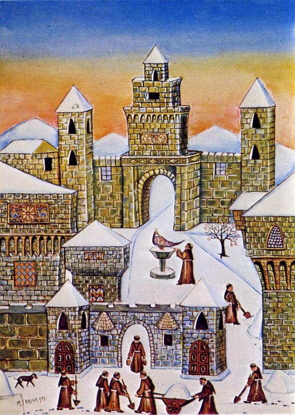 Mario Farina-Neve sul convento
