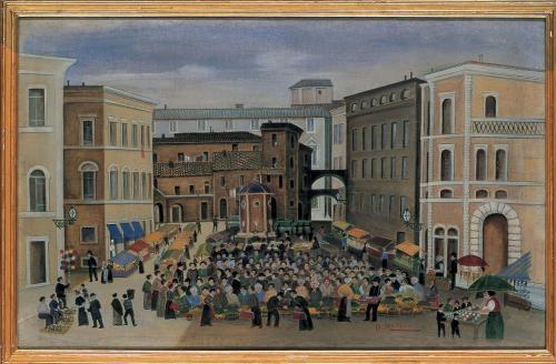 Orneore Metelli-Il vecchio mercato a Terni