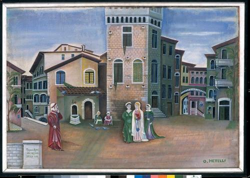 Orneore Metelli-Incontro di Dante e Beatrice