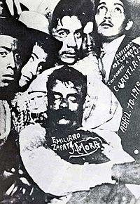 Esibizione del cadavere di Zapata a Cuautla
