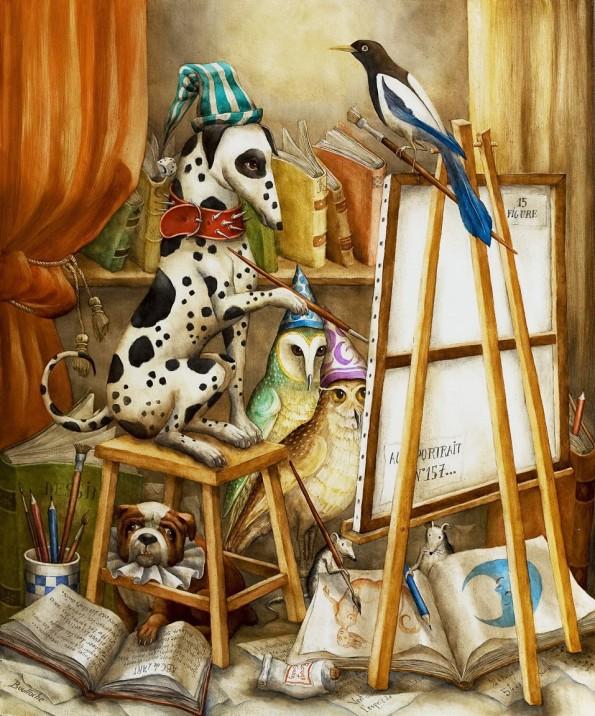 boulloche_agn_s_atelier_peintre_original_bild_painting