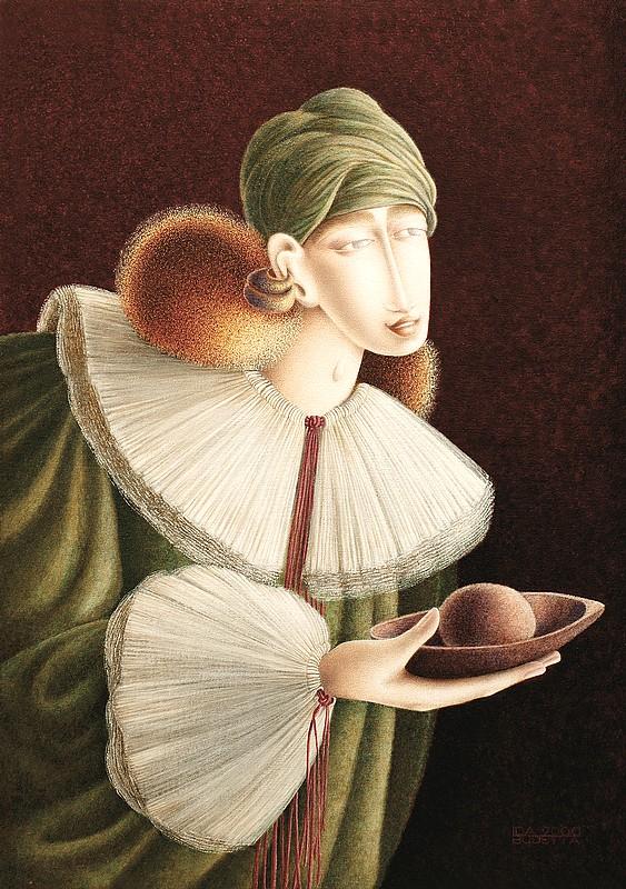 Ida-Budetta--Annunciante-con-dono--acrilico-su-tela-cm