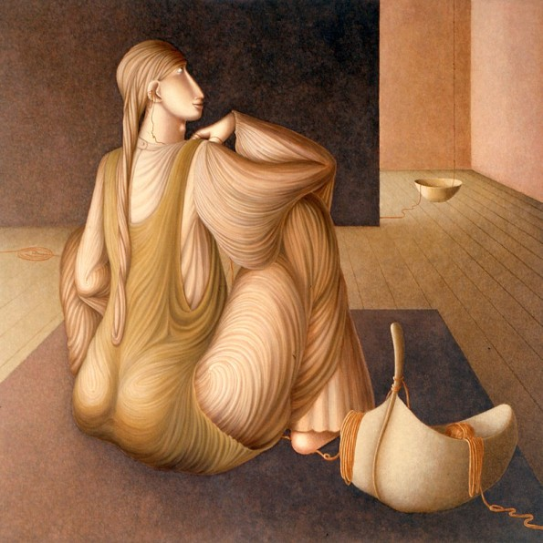 Il-gioco-del-filo-senzafili-III,-2002,-acrilico-su-tela,-100-x-100-cm