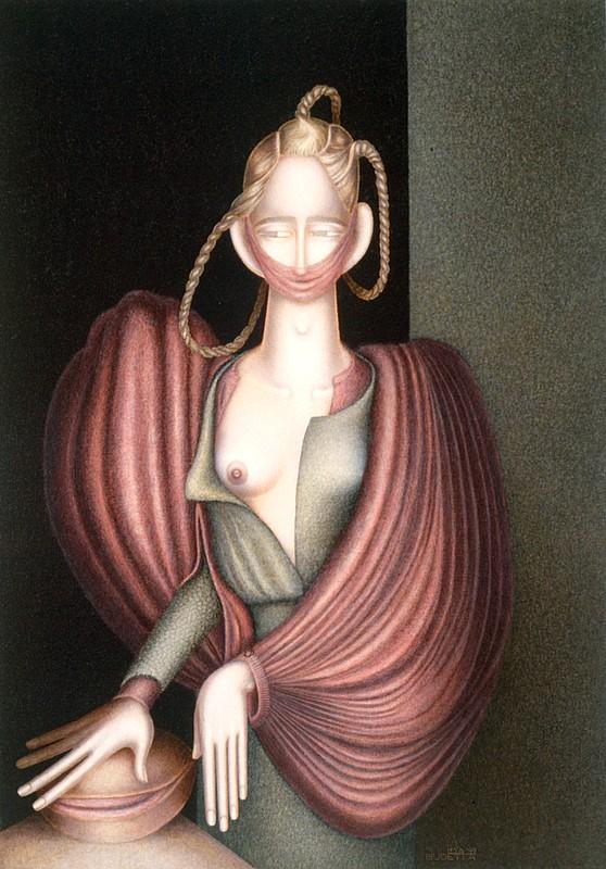 Nostra-Signora-dell-Ambiguo-latente,-1999,-acrilico-su-tela,-100-x-70-cm
