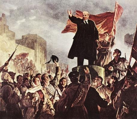 Dipinto agiografico di Lenin