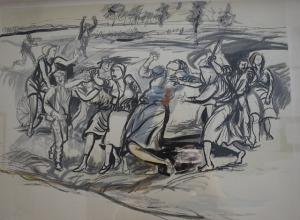 Renato Guttuso: Morte di Maria Margotti.